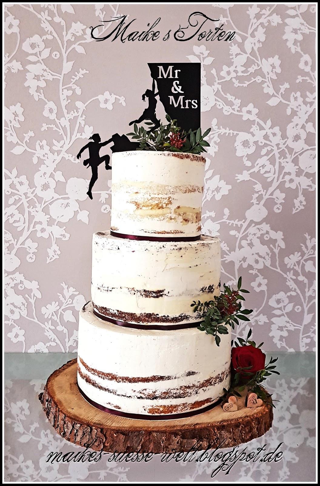 Maikes Süße Welt Semi Naked Cake Hochzeitstorte Rezept Schoko