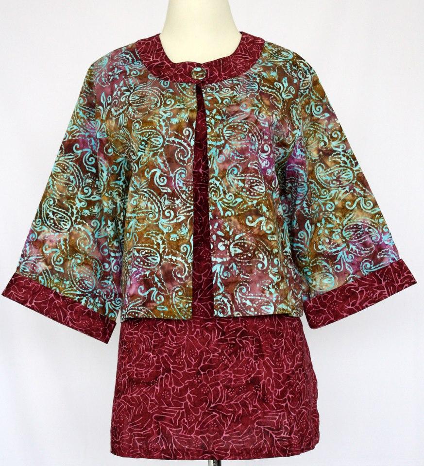 Model Baju Blus Batik Terbaru Collar Blouses