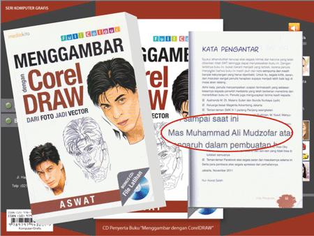 Ucapan Terimakasih di Buku Menggambar Dengan Corel Draw (Dari Foto Jadi Vector)