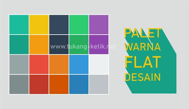 kumpulan warna flat desain format vector