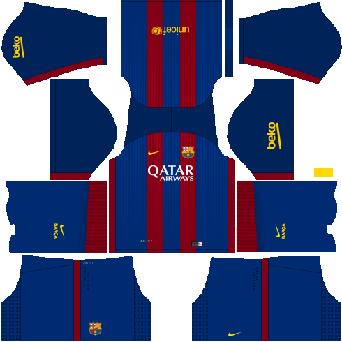 2016-2017 Barcelona Home Nike Little Boys Mini Kit [776733-481 ...