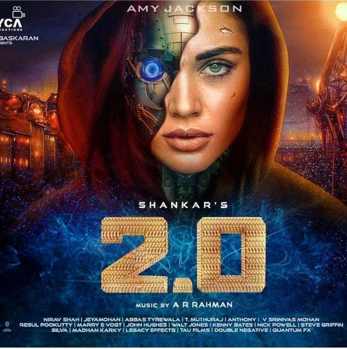 Latest Poster of #2Point0 featuring Amy Jackson