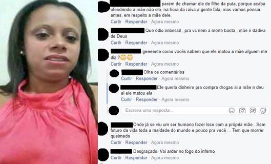 """Jovem mata mãe e pede desculpas no Facebook """"Vá com Deus"""""""