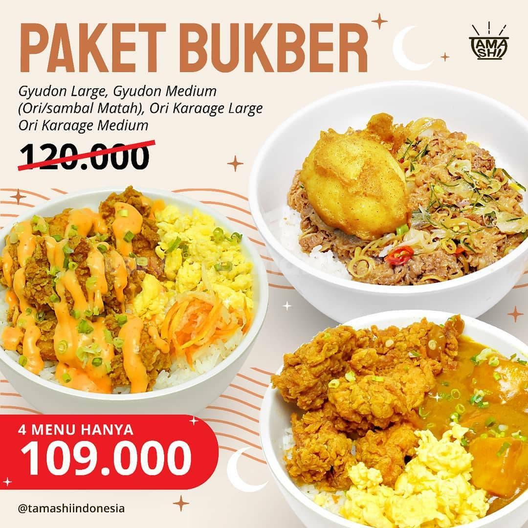 TAMASHI Promo PAKET BUKBER - 4 Menu harga cuma Rp109.000