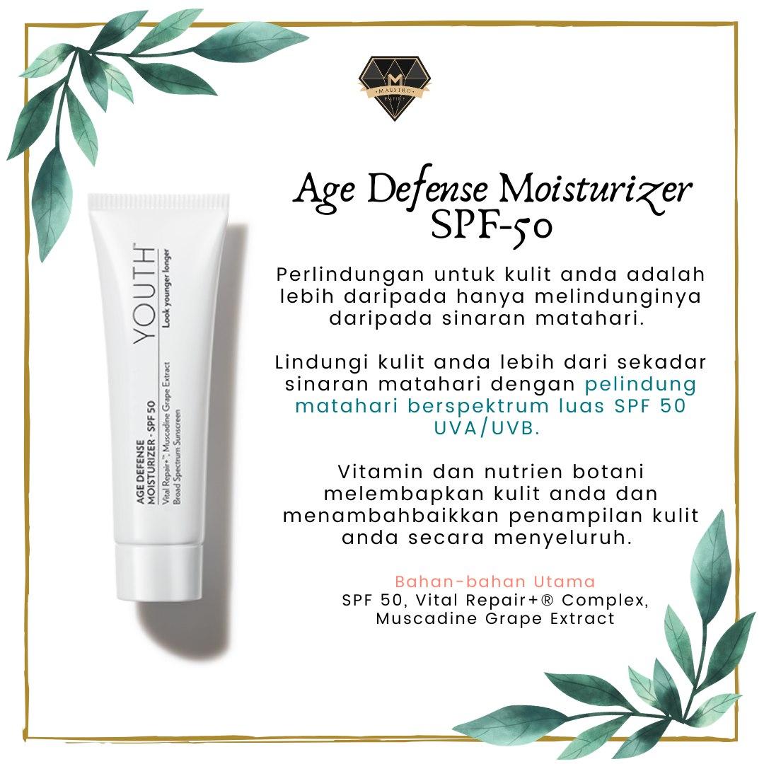 Skincare Untuk Kulit Kering - Youth Age Defense Moisturizer SPF 50