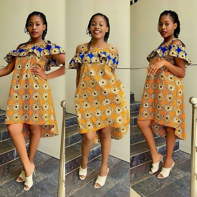 Creative Ankara Short Gown Style - Zaineey\'s Blog