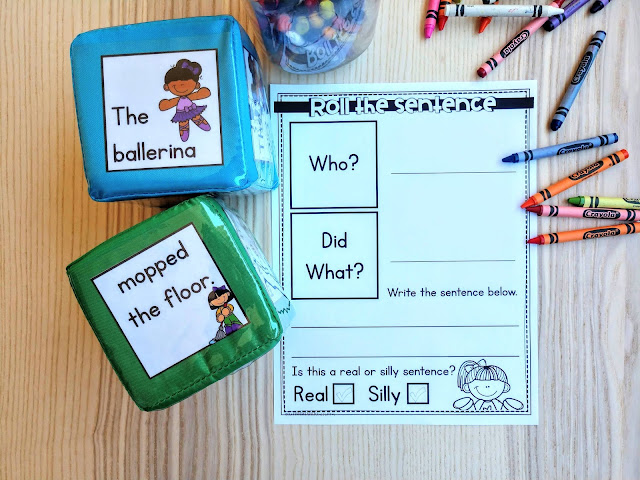 The Kinderhearted Classroom sentence practice