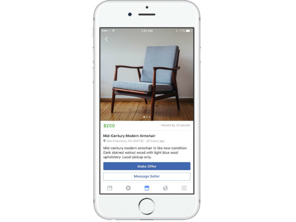 Facebook users now can sell your old stuff on the Marketplace