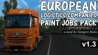 cover ets 2 european logistics companies paint jobs pack v1.3