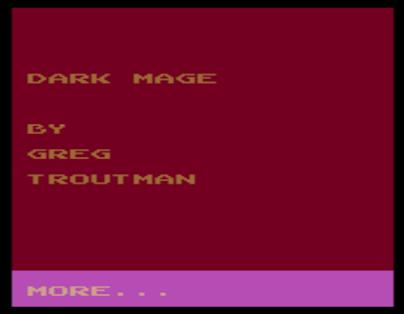 Gaming After 40: Adventure of the Week: Dark Mage (1997)