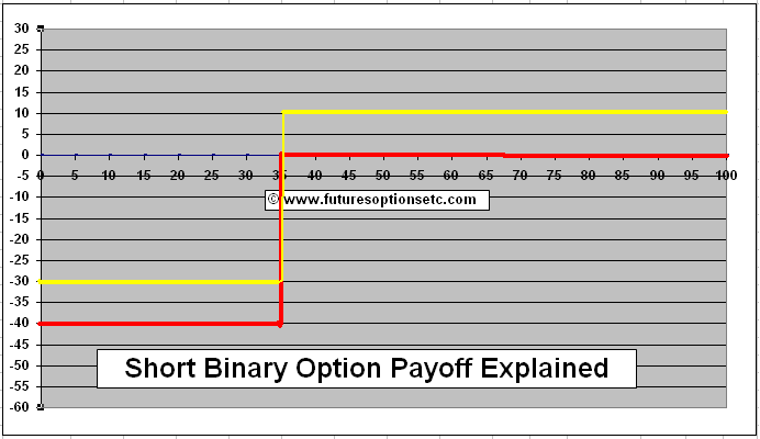 Binary call option payoff