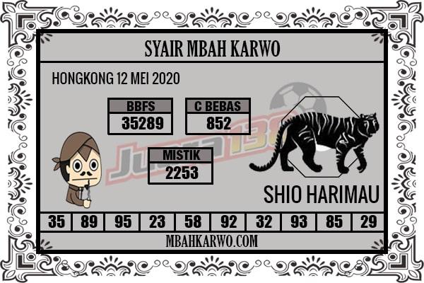 Prediksi HK Selasa 12 Mei 2020 - Syair Mbah Karwo