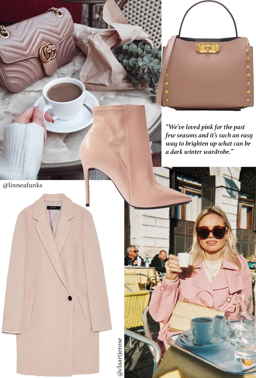 Fashion, Style Set, Fashion Bloggers, AW17, Outfit Ideas, Pink, Jewellery, Knitwear, Lingerie, Trench Coat