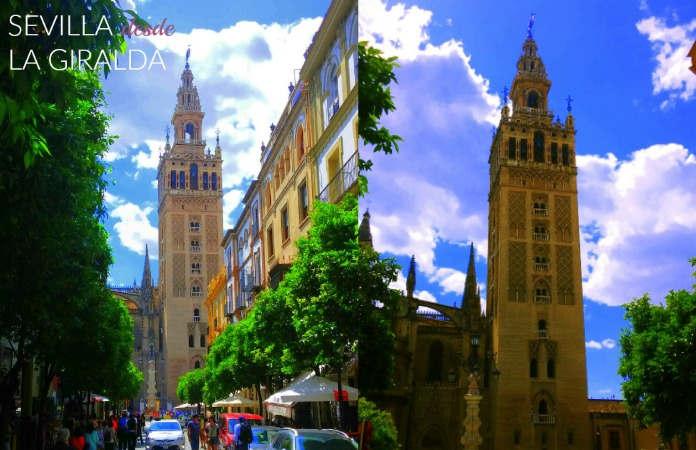 Vistas de la Giralda desde la calle Mateos Gago Sevilla