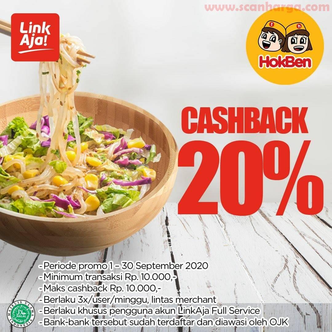 Hokben Promo Cashback 20% Min Transaksi Rp 10Ribu Pakai LinkAja