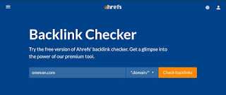 Cek backlink menggunakan ahrefs