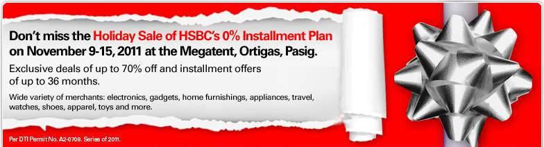 Manila Shopper: HSBC's Holiday SALE at Megatent