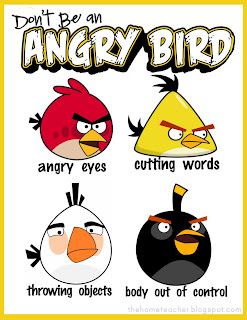 Dont Be An Angry Bird Free Printables