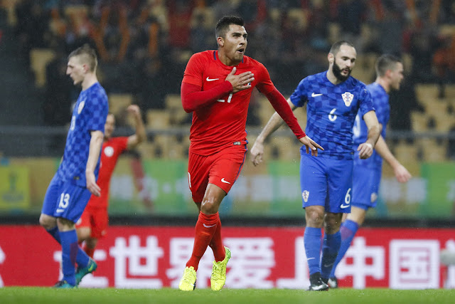 Chile y Croacia en 2017 China Cup, 11 de enero