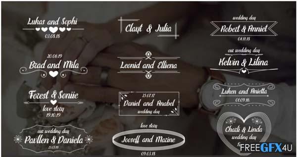 Wedding Titles Elegant
