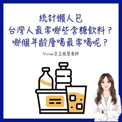 台灣營養師Vivian【統計懶人包】台灣人最常哪些含糖飲料? 哪個年齡層喝最常喝呢?