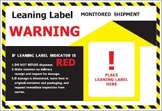 Bìa nhãn cảnh báo nghiêng