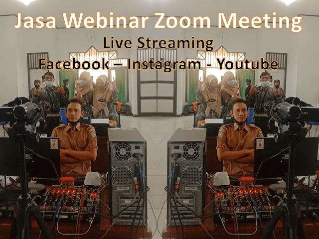 Jasa Webinar Zoom Meeting Live Streaming Online