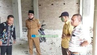 Wabup Oky Kunjungi Lokasi Pembangunan Gedung Dakwah Muhammadiyah Batu Bara