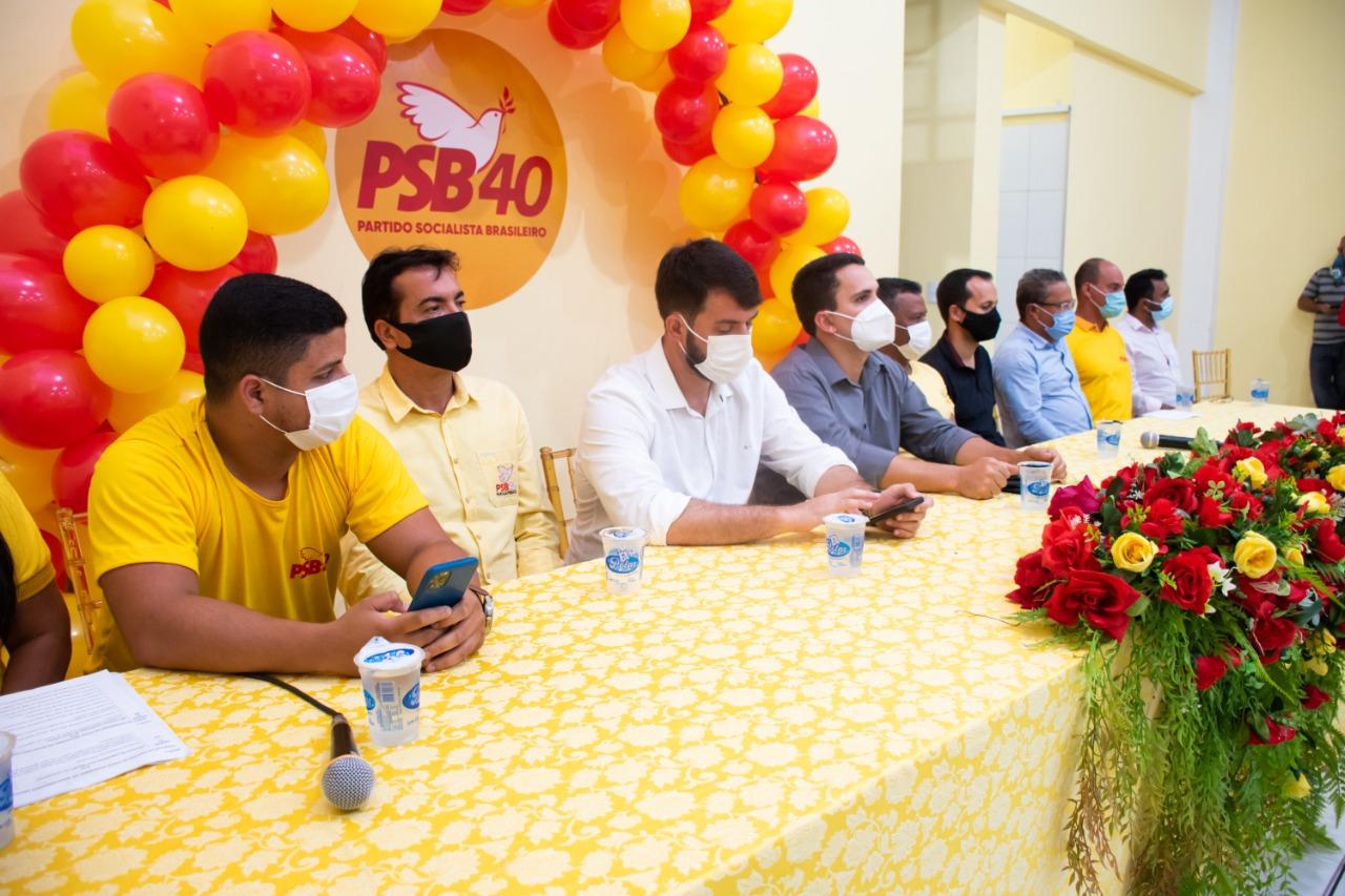 Elias da Construforte prestigia posse da nova diretoria provisória do PSB Parauapebas.