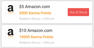 CashKarma Amazon Gift Card