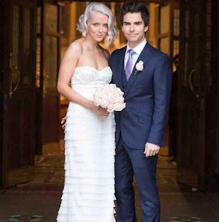 Jakki Healy with spouse Kelly Jones in their wedding dress