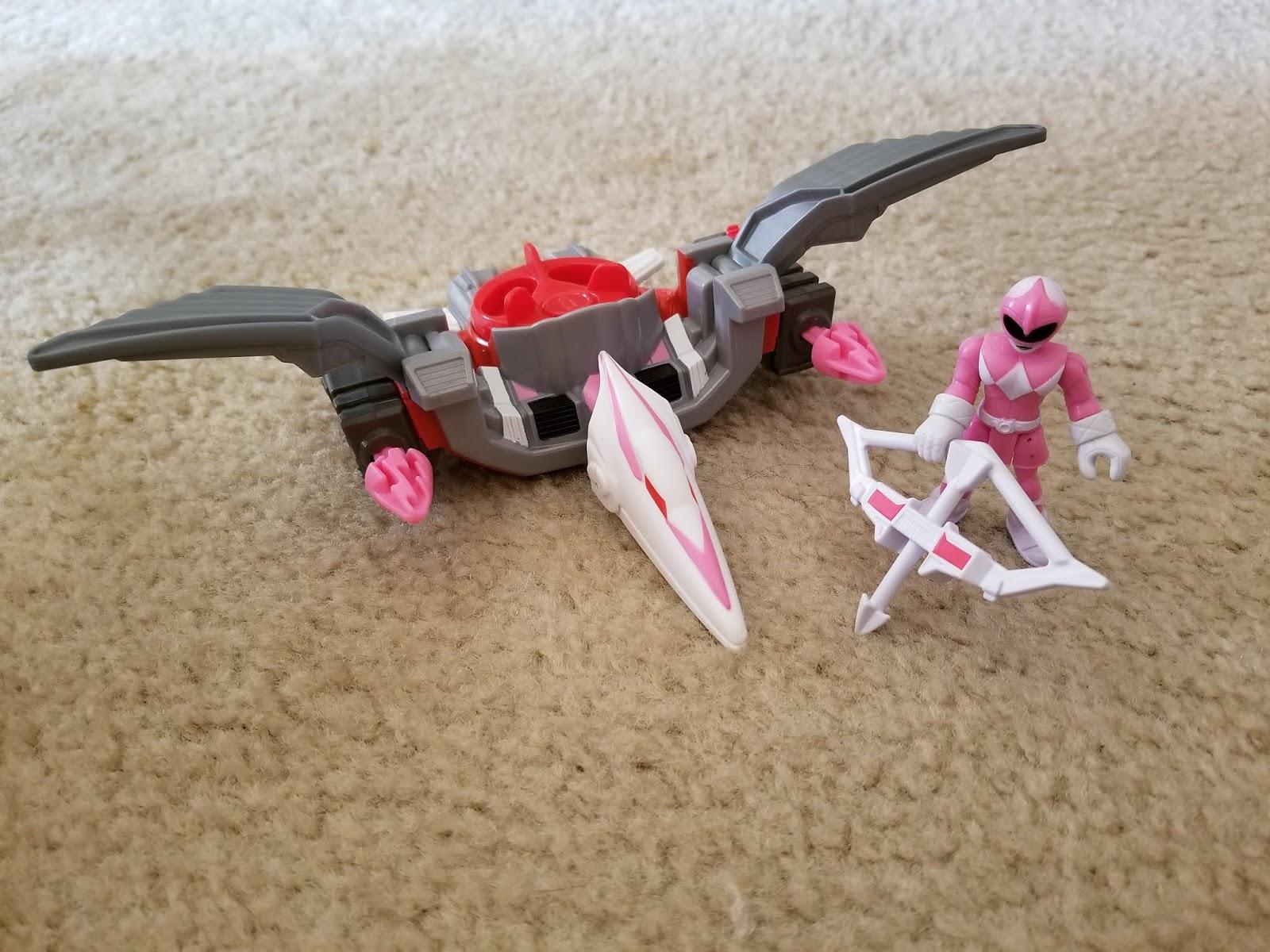 NEUF * Imaginext Power Rangers-Rose Ranger et ptérodactyle Zord