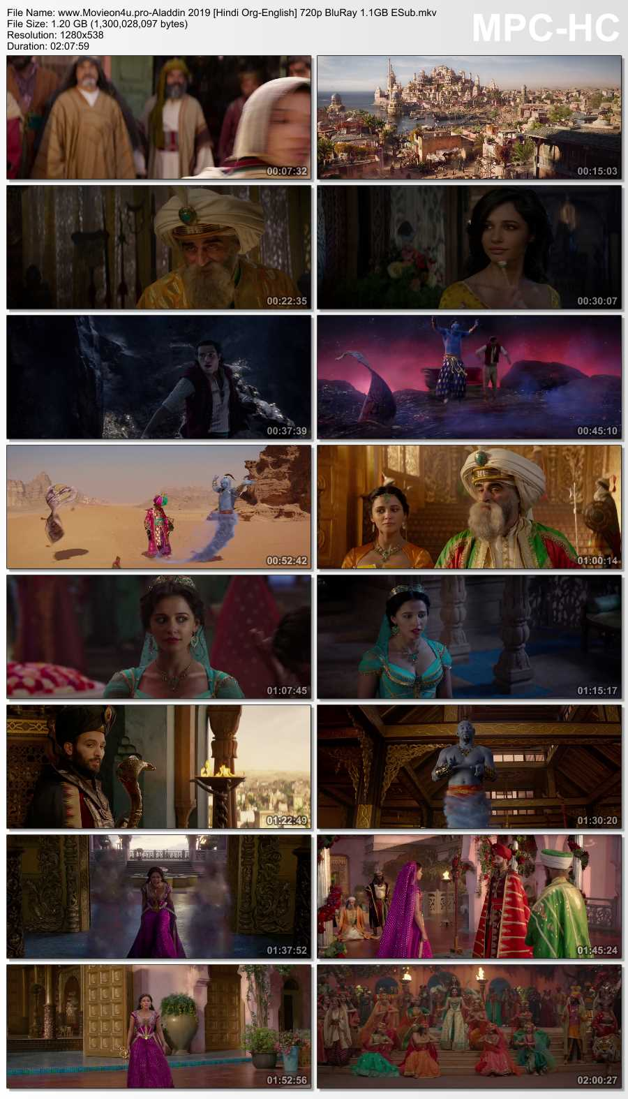 >Aladdin 2019 480p Dual Audio In [Hindi English]
