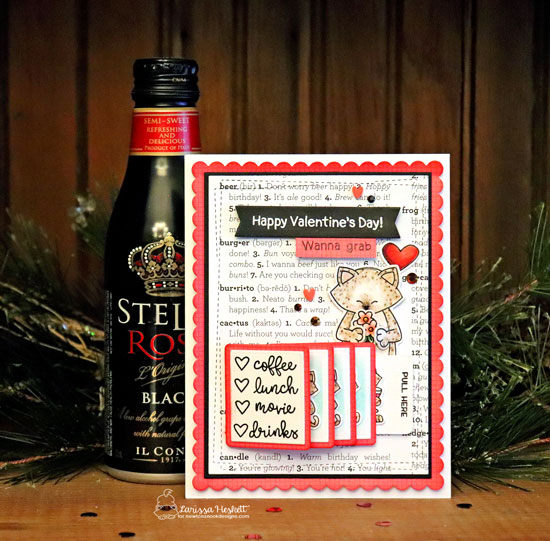 Night out Kitty card by Larissa Heskett | It's a Plan, Newton Makes Plans, and Sending Hugs Stamp Sets by Newton's Nook Designs #newtonsnook #handmade