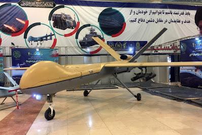 drone iran, drone iran shahed-129, drone iran mirip raptor