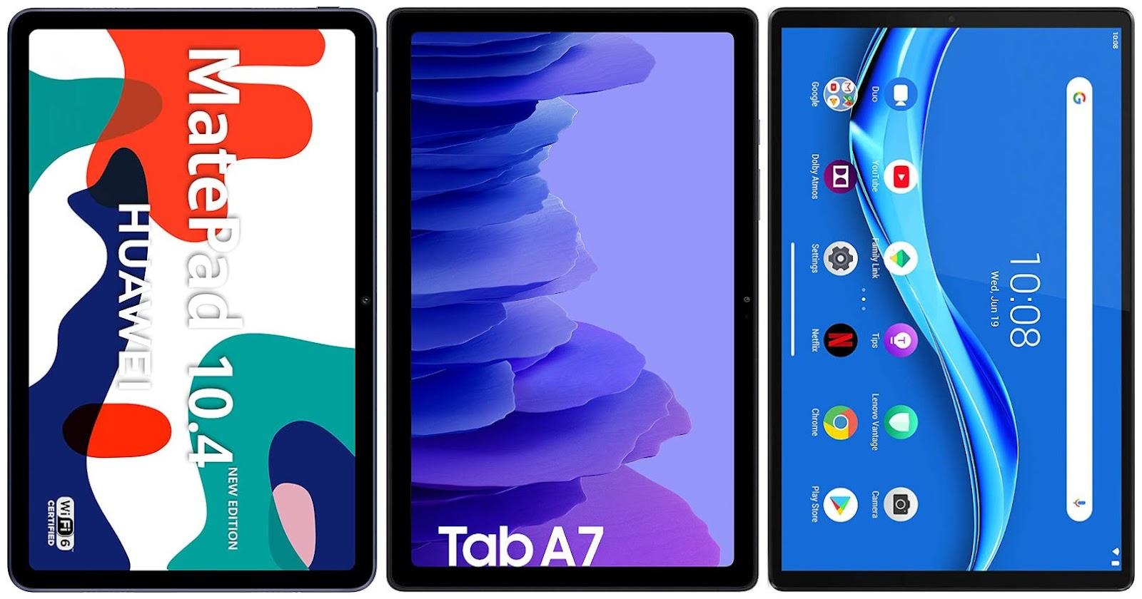 Huawei MatePad 10.4 New Ed. vs Samsung Galaxy Tab A7 10.4 vs Lenovo Tab M10 FHD Plus