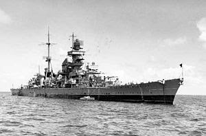 WW2 Battle of Atlantic - USS Prinz Eugen battle cruiser