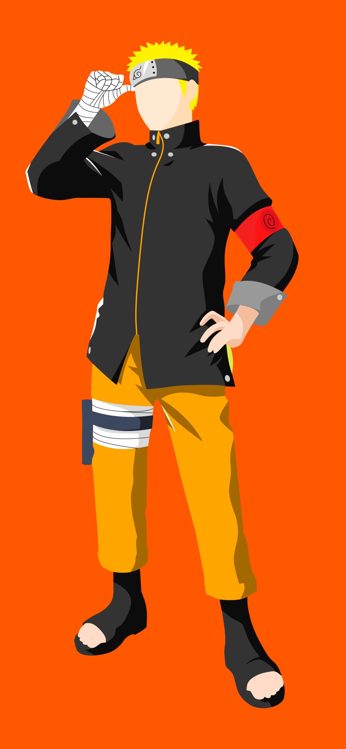 Naruto uzumaki minimalist mobile wallpaper