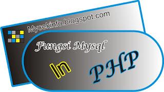 Fungsi-fungsi mysql di php full tutorial