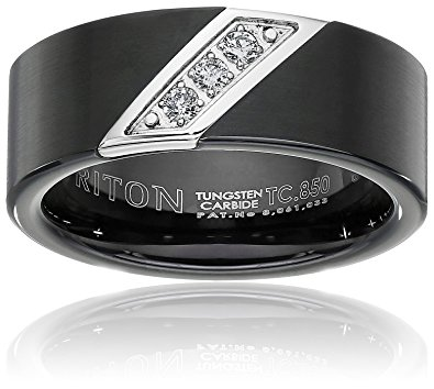 Tungsten Wedding Rings With Diamonds