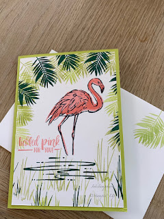 Fabulous Flamingo card Stampin Up