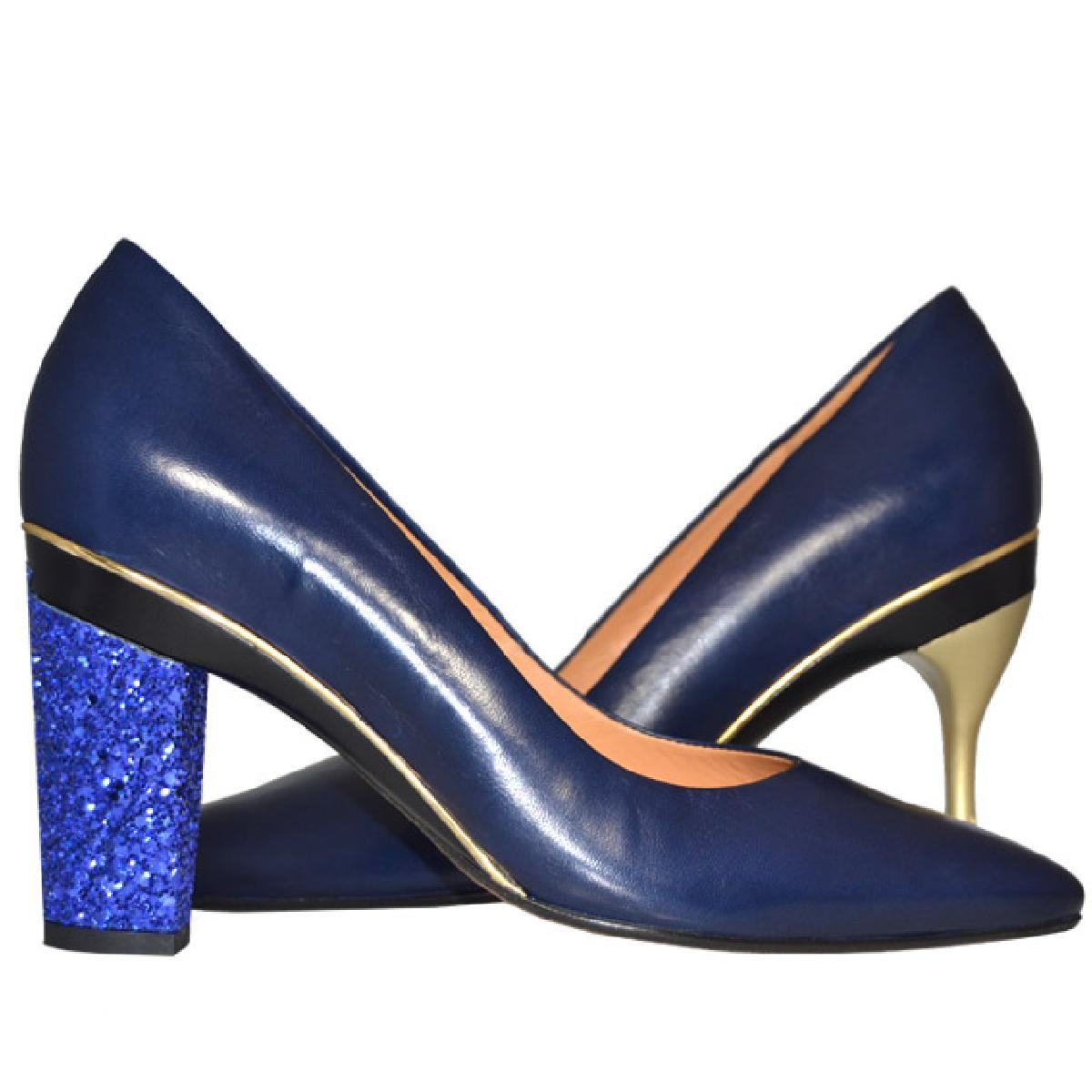 Chaussures Tanya Heath avec talons interchangeables.