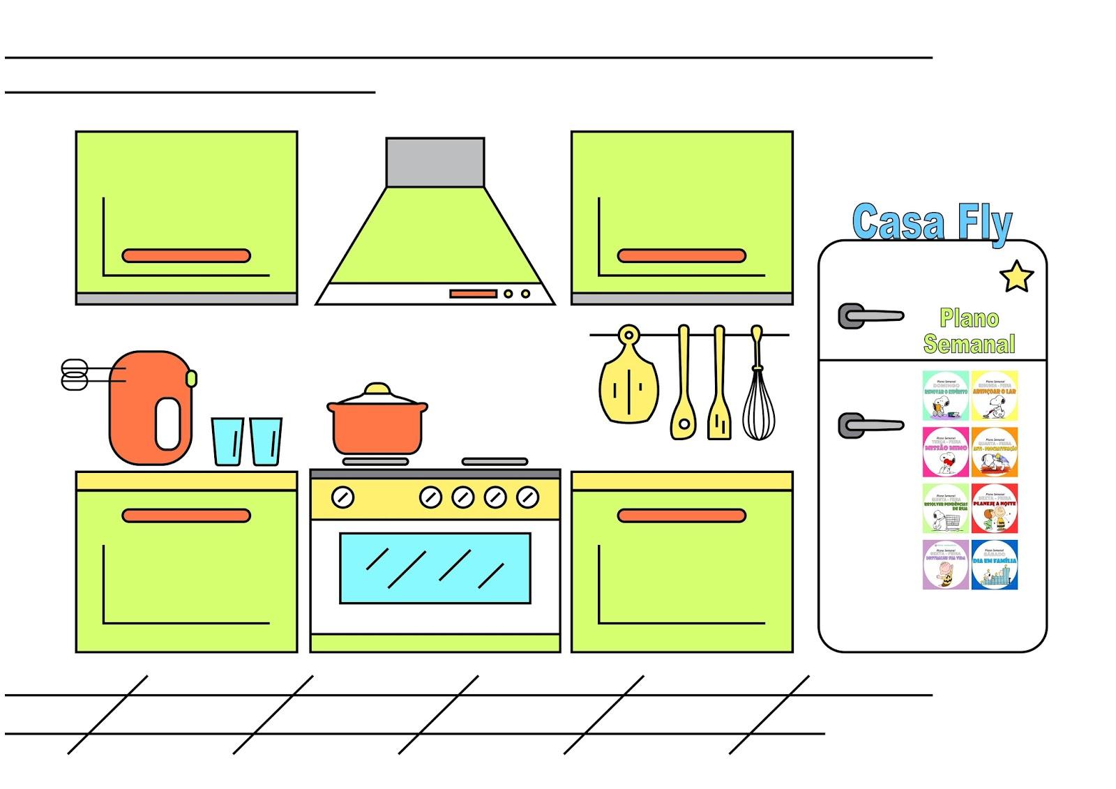 Artesanato Junino Com Material Reciclado ~ Casa Fly Lista de limpeza detalhada Zona 2 Cozinha