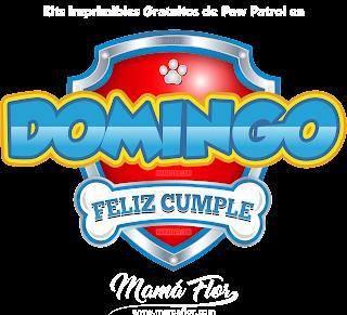 Logo de Paw Patrol: DOMINGO