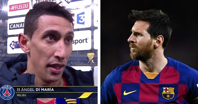Angel Di Maria confessed he tried sweet talking Messi to PSG when Leo handed in transfer request at Barca