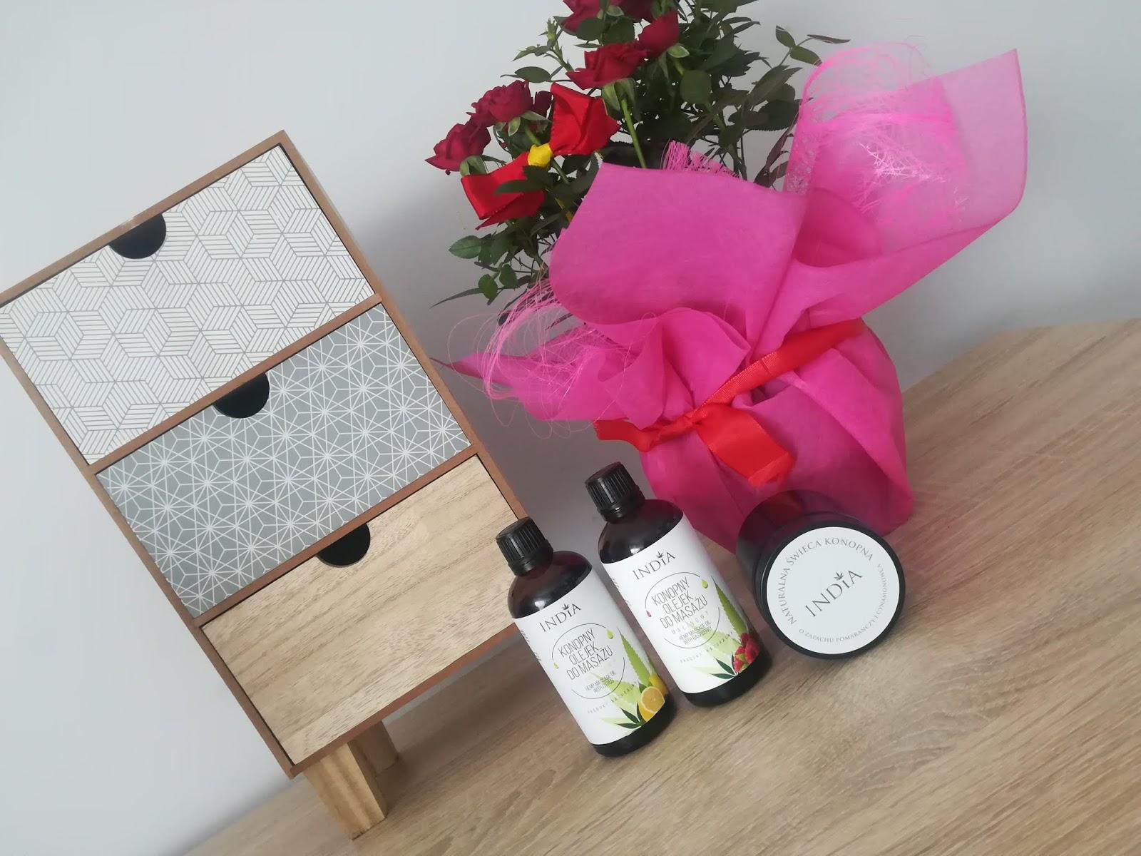 olejki do masażu z maliną i cytrusowy india cosmetics