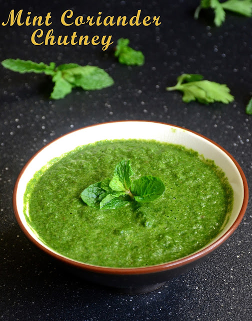 Mint and Coriander Chutney | Green chutney by Veggie recipe house