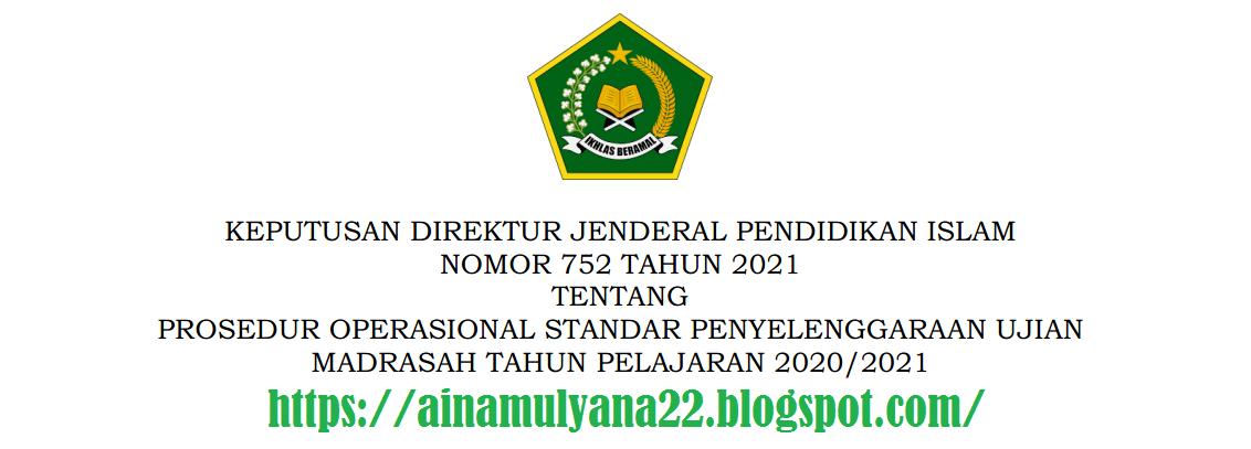 POS Ujian Madrasah Tahun 2021 Tahun Pelajaran 2020/2021