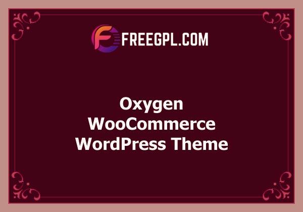 Oxygen - WooCommerce WordPress Theme Free Download