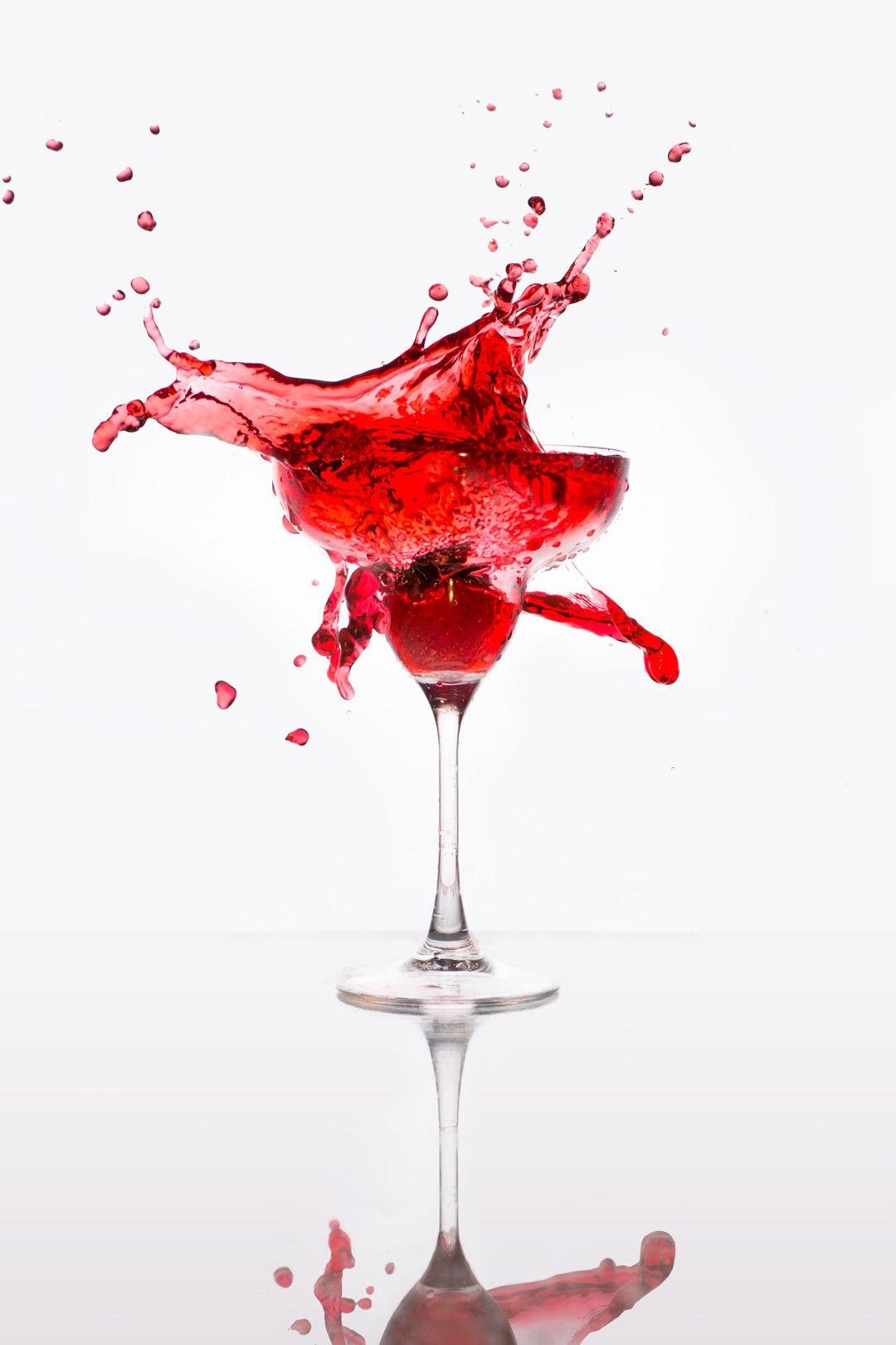 Daiquiri Splash Beverage Photography